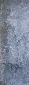 Whispering no 3 (2016) graphite/oxidized zinc 59 x 20 cm