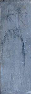 Whispering no 10 (2016) graphite/oxidized zinc 59 x 20 cm